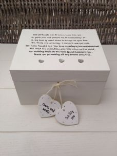 Shabby Personalised Chic Mother Of The Groom Wedding Gift Trinket Jewellery Box